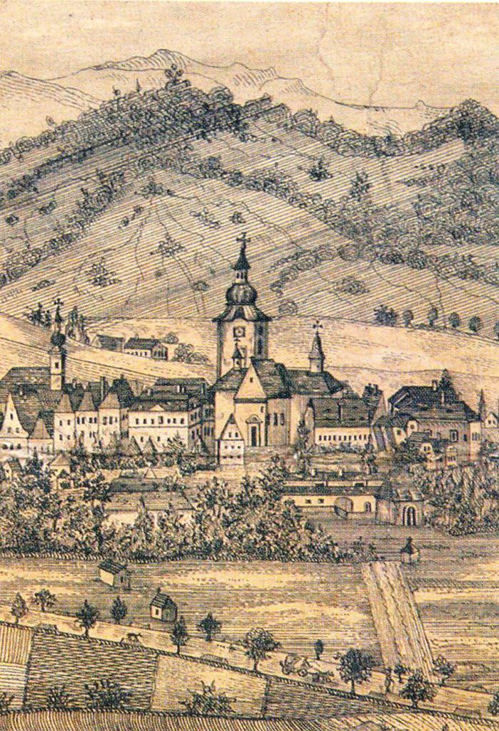 Město Šumperk ve 40  letech 19  stol, obrázek se otevře v novém okně