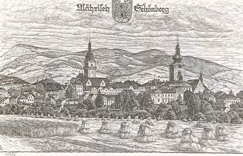 Severozápadní pohled na město z r  1938, obrázek se otevře v novém okně