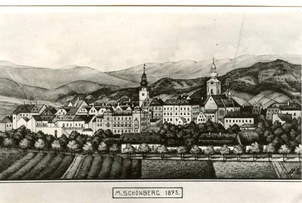 Šumperk v roce 1875, obrázek se otevře v novém okně
